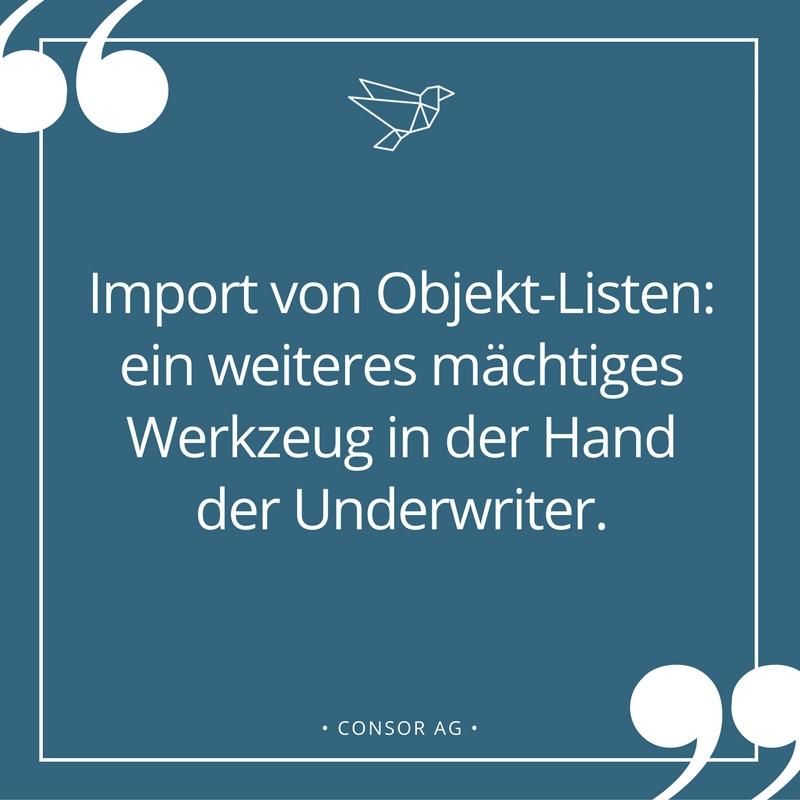 Import Von Objekt-Listen