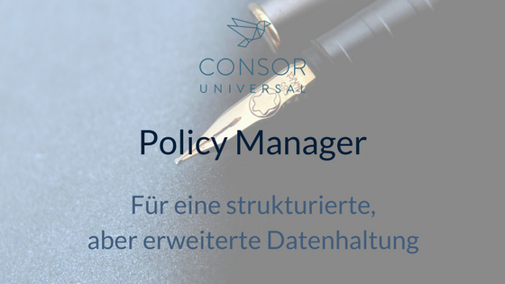 Policy Manager von Universal